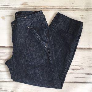 Calvin Klein Jeans Denim Capri Pockets 6 Dark Blue
